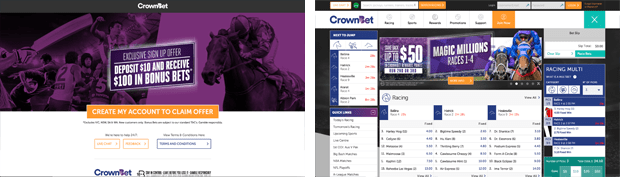 crownbet betting bookmaker review horse racing