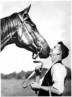 Tommy Woodcock and Phar Lap