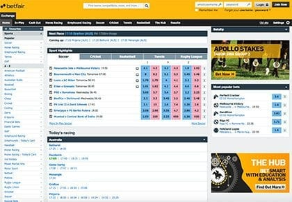 Betfair Global Betting Exchange