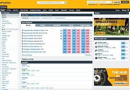 Betfair Global Betting Exchange