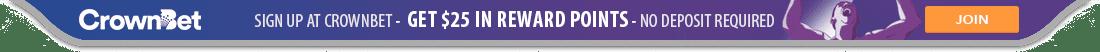 Get $25 in Reward Points with Crown Bet
