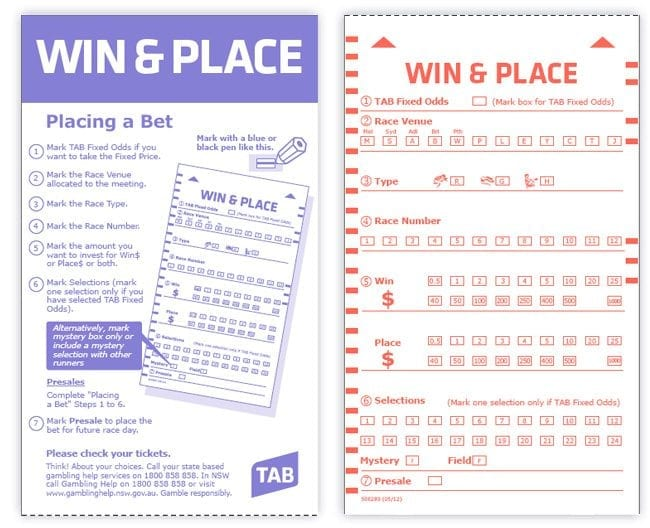Old TAB tickets