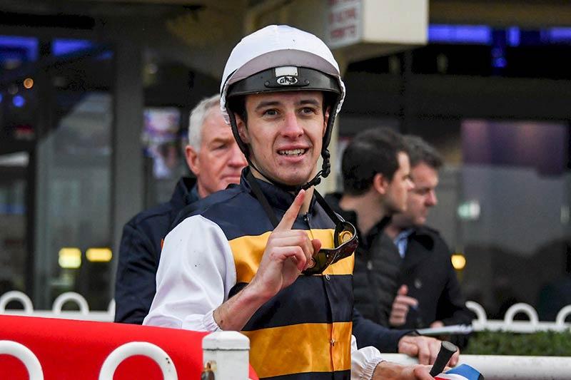 Apprentice jockey Jordan Childs, son of Greg