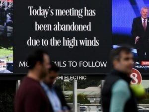 Wind forces early end to Caulfield meeting