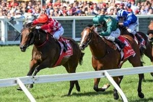 Catchy wins Blue Diamond Stakes
