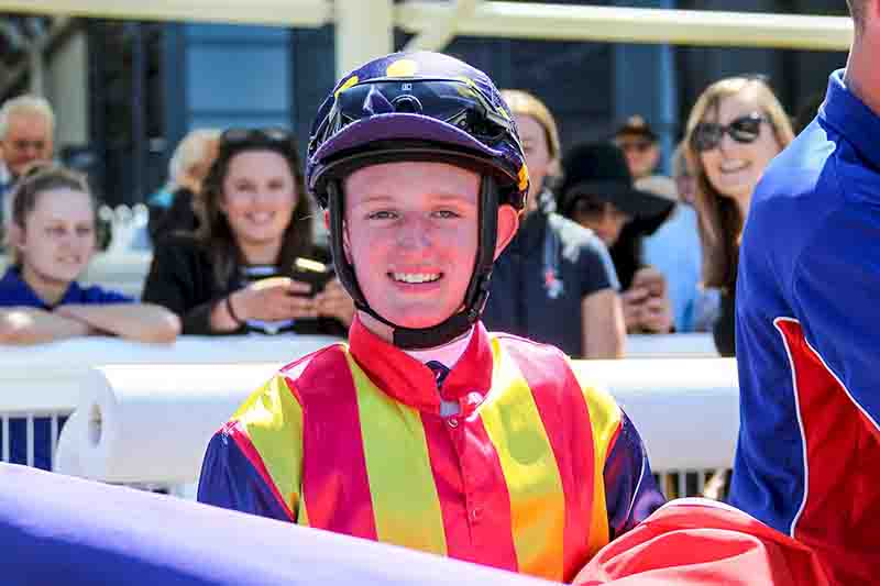Apprentice jockey Michael Poy