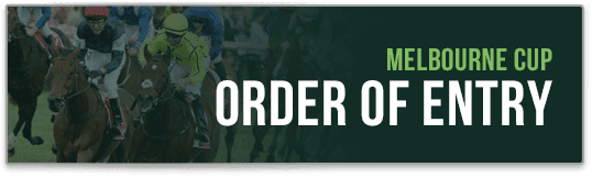 order of entry melbourne cup