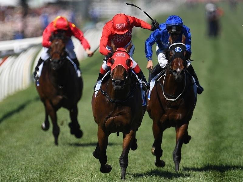 Kerrin McEvoy rides Redzel to victory