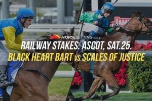 Railway Stakes Black Heart Bart vs. Scales Of Justice betting