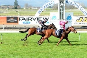 Brooknars winning at Matamata