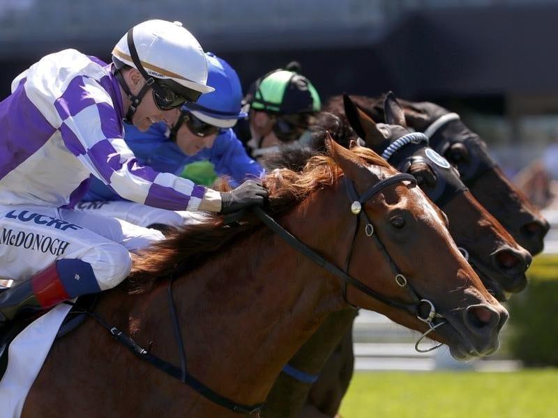 Jockey Declan McDonogh rides Positive Problems to win