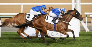 Faatinah (AUS) (David Hayes – Jim Crowley) wins the Cleveland Clinic Abu Dhabi World Class Cup Handicap at the second Dubai World Cup Carnival