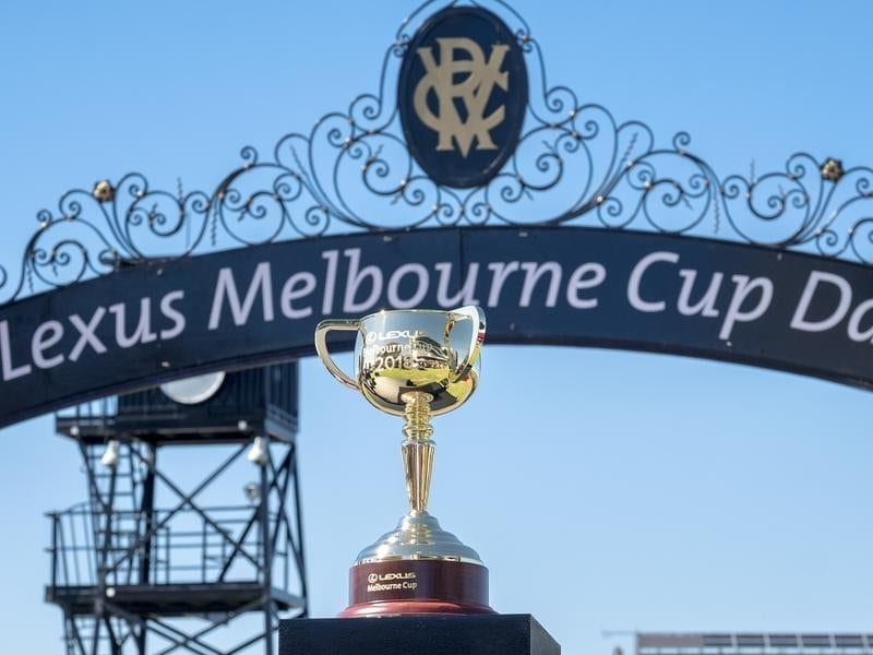 The 2018 Lexus Melbourne Cup is shown
