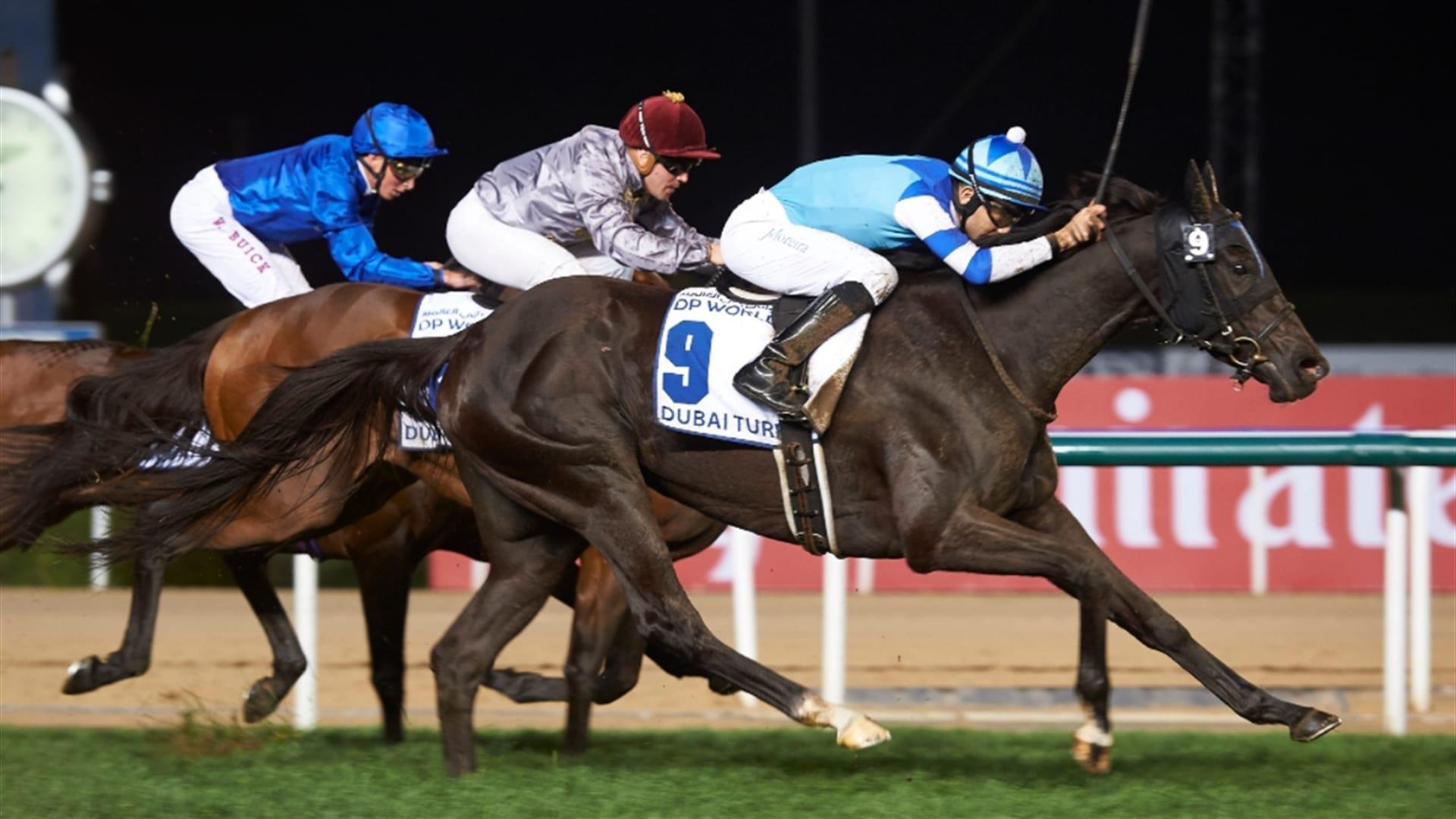 Vivlos wins the 2017 Dubai Turf