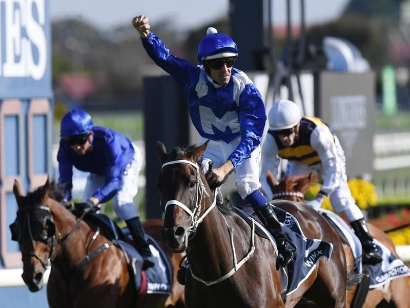 Jockey Hugh Bowman on Winx gestures.