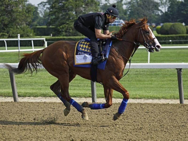 All is in place for Justify as he bids to win the Belmont Stakes and complete the Triple Crown