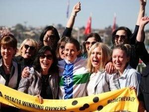 Michelle Payne trains first city winner