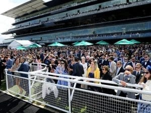 Crowd at the 2018 Everest