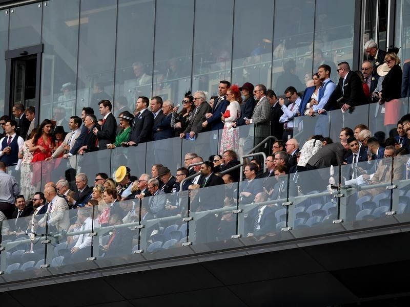 The crowd on Everest race day at Royal Randwick Racecourse.