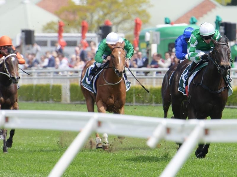 Catch Me wins the Gimcrack Stakes.