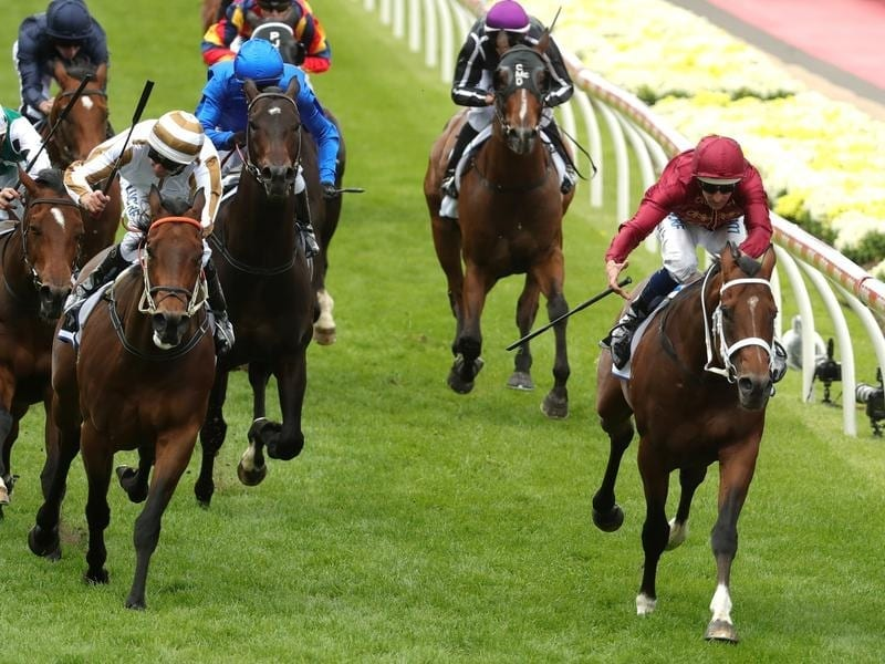 Charge (right) wins at Moonee Valley.