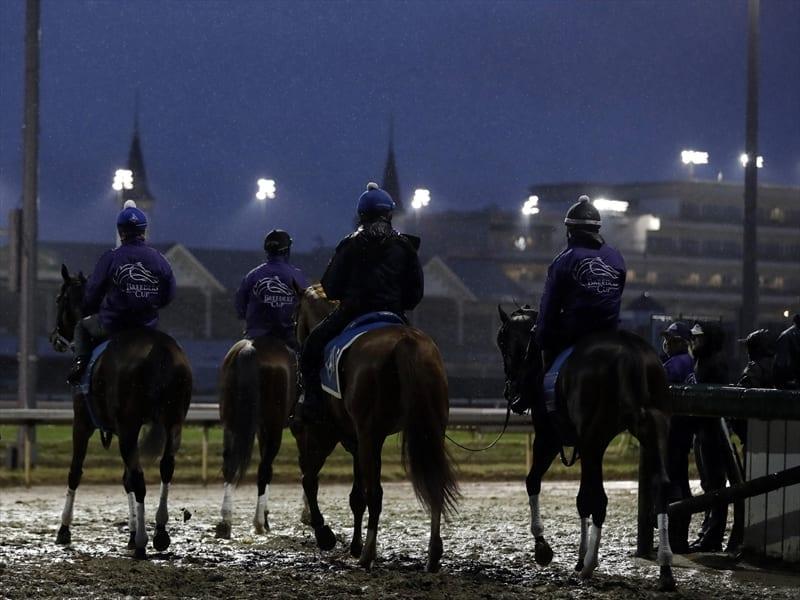 Gosden And O Brien Inspect Sodden Track Horse Betting