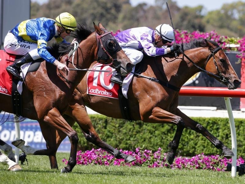 Kerrin McEvoy rides Cool Passion to win race 5 at Sandown
