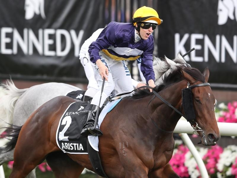 Aristia will contest the Group One Empire Rose Stakes.