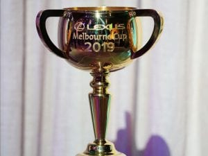 Replica Melbourne Cup stolen from cafe