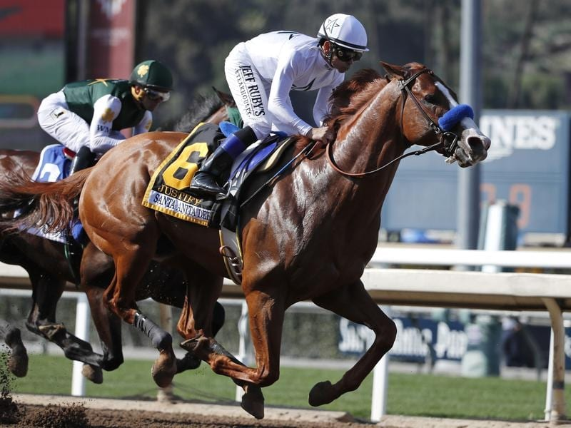 Justify won the Santa Anita Derby in California in 2018