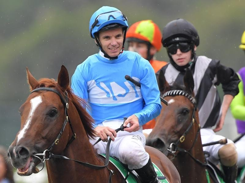 Tim Clark returns to scale after riding Embracer to victory a Rosehill