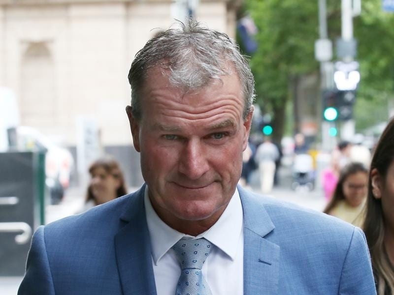 Darren Weir leaves the County Court of Victoria in Melbourne.