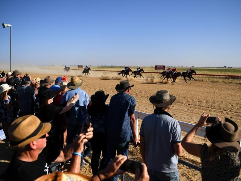 The famous Birdsville races in outback Queensland.