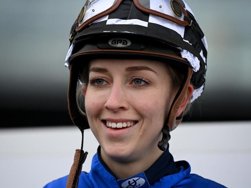 Louise Day after winning on Witherspoon at Randwick.