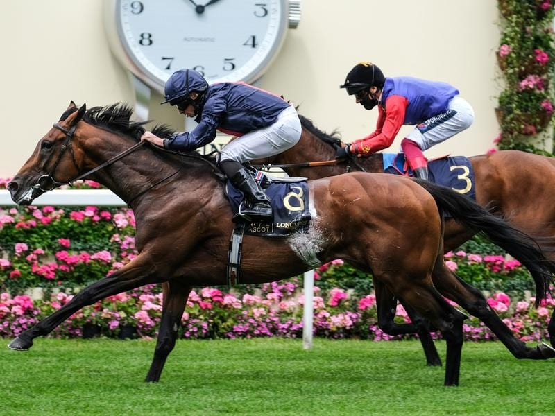 Russian Emperor winning the Hampton Court Stakes at Royal Ascot.