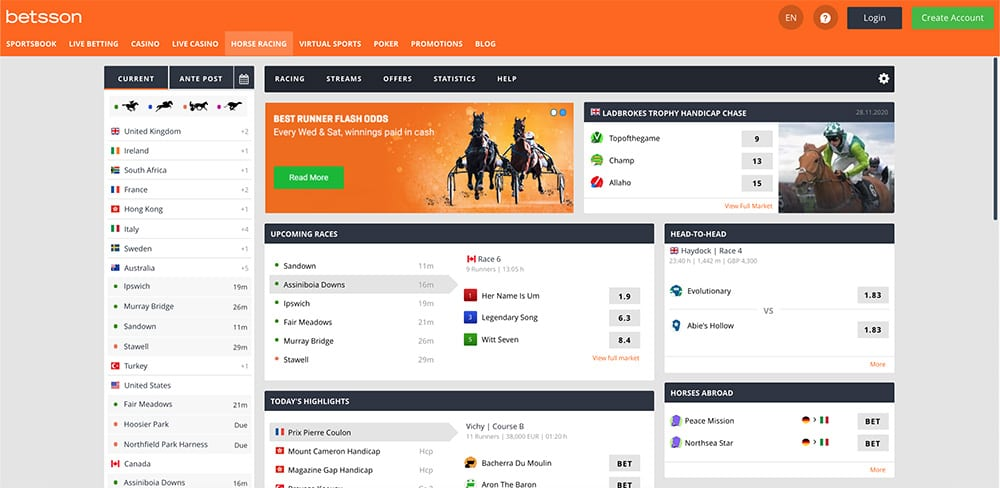 Betsson Horse Racing